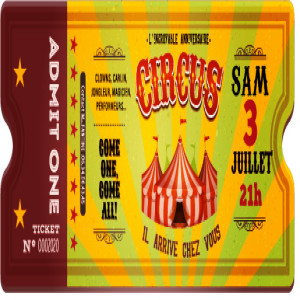 Ticket gradin Circus